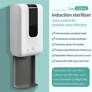 Spray Hand Cleaner Soap Dispenser Automatic Touchless Wall Mounted for Restaurants Home 1200ml HG99