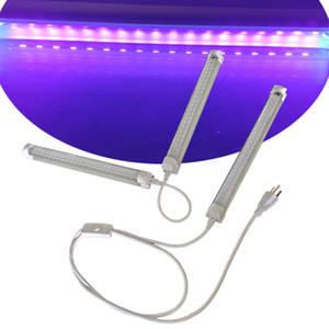 Интегрированный T8 двойной ряд ультрафиолетовый светодиод Черный Свет, УФ 390 Нм 400 Нм светодиодные трубки для Blacklight плакат, УФ-искусство, спальня, ультрафиолетовый свет