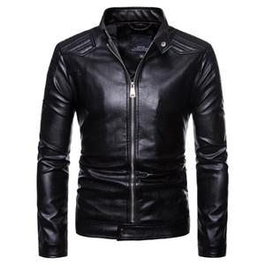 Jaqueta de couro da motocicleta dos homens do Euro tamanho novo Euromarket Jacke jaqueta plus size jacka cor preta homens casaco Leder jaquetas