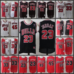 Retro ChicagoBullsMen #23 MichaelJordan 91Dennis Rodman 33ScottiePippen Stitched Jerseys