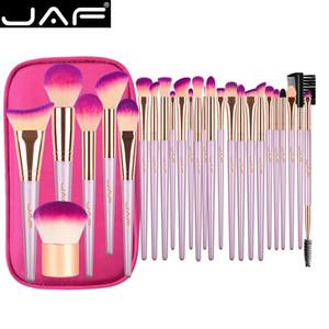 지퍼 케이스 화장품 가방으로 설정 JAF 26 개 골드 메이크업 브러쉬는 브러쉬 전문 스튜디오 여성 아티스트 트래블 사이즈 메이크업
