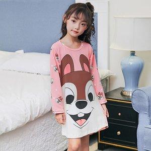 Kids Party Princess Nightgown New WAVMIT 2018 Children Cloth 3D Print Autumn Sleepwear Girls Baby Cotton Girl Sleepwear