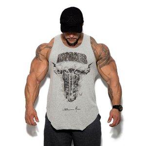 2019 Summer New Sports Training Running Sleeveless Tight Elastic Basketball Pure Cotton Fitness Garment vest for Male gym vest