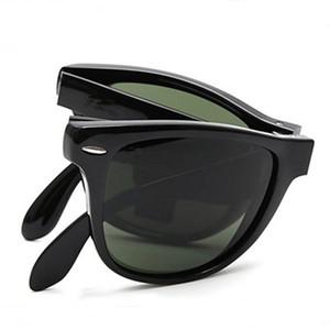 New Vintage 4105 Óculos De Sol Dobrável Marca Designer Óculos De Sol para Homem Mulher UV400 Lentes Polarizadas 50mm com Caixa Caso Dobrável