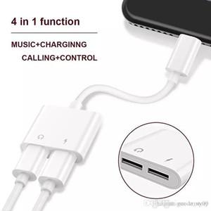 2 em 1 dual para lightnin para fones de ouvido adaptador de carregador de áudio conectores cabo para iphone 7 8 x plus para ios 10.3 11 cobrando música