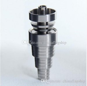 Hot sale 6 in 1 Adjustable domeless GR2 dab nail Titanium nails Male Female for oil rigs glass bong in stock