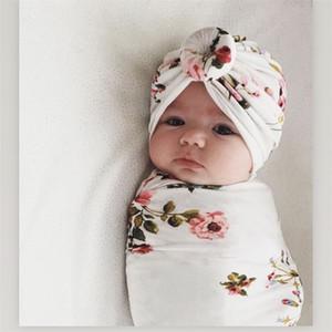 Couverture Bébé Swaddle Couverture Nouveau-Né Photographie Prop Couverture Bébé Imprimé nouveau-né Bébé Garçons Fille Sleep Swaddle Muslin Wrap + Bandeau 2 PCS
