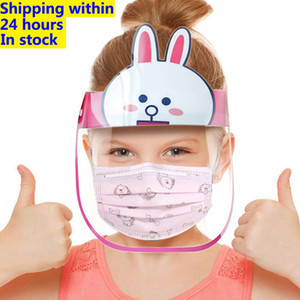 In Stock Kids Protective Mask PET Anti-fog Dust-proof Children Protective Visor Full Face Hat Covering Mask Shield Eye Protection Mask