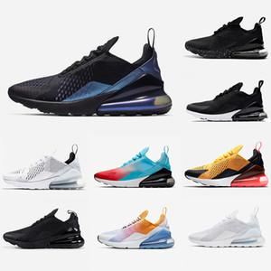 Nike Air max 270 shoes airmax 270s  Malha Branca Azul Marinho e Borgonha Bred Homens Mulheres Correndo Sapatos Ao Ar Livre Florescente Floral Treinamento Esportes Zapatos Sneakers