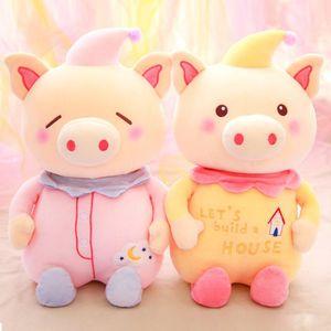 peluş oyuncaklar Domuz Peluş Oyuncak Bebek Domuz Yıl Maskot Doldurulmuş Hayvanlar Oyuncaklar boynuzlu at Sevimli Blessing çocuklar oyuncakları için en Hediye