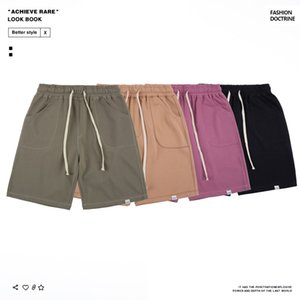 20ss Designer Brand2019 Shorts Mens Summer New Knee-Length Shorts European and American-Style Fashion Casual 5 Points Beach Pants Solid Colo