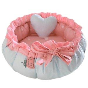 Prinzessin Stil Sweety-Hundebett-Katze-Bett-Haus-Kissen Kennel Pens Sofa mit Kissen Warm-Schlafsack