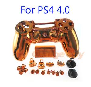 Substituição Chrome Caso Shell Habitação para Sony PS4 Pro 4.0 sem fio V2 Controlador JDS040 Mod Kit Tampa Pro controlador com botões