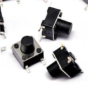 100 ADET 6 * 6 * 17.0 ~ 25.0 mm dokunsal anahtar 4 pim yama mikro düğmeyi Tactile Buton İndüksiyon anahtarı 6x6 serisi
