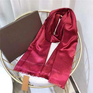 Cachecol de seda moda homem mulheres 4 temporada xaile lenço letra lenços tamanho 180x70cm 6 cor alta qualidade