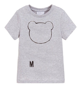 Los niños del diseñador T Shirts Niño Niña de lujo impresa letra T-Tops niños de la marca transpirable unisex camisetas de chicas camisetas ropa de los muchachos