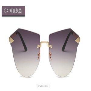 Arrow Frameless gold Sunglasses Fashion Design Frameless Women Square Sunglasses Small Metal Classic Retro Men Gradient Sunglasses k7QZB drC