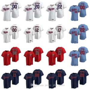 2020 Kent Hrbek Jersey Sergio Romo Mitch Garver Jonathan Schoop Byron Buxton Ehire Adrianza Kirby Puckett jerseys del béisbol cosido personalizada