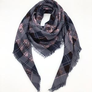 Оптово-Новый классический дизайн два цвета размер 130см -130cm модальный материала для печати пледа череп квадратных шарфы пашмины шарф для женщин