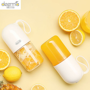 Deerma Juicer 300ml Portable Electric Blender Multipurpose Wireless Mini USB Rechargable Juice Cup Fruit Mixer for Travel