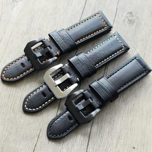 20 21 22 24 26 mm Retro Handmade Genuine Leather Men Watchbands Universal Wrist Watch Band Strap Belt for ed watch for PAM