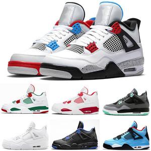 36-47 TOP Bred Cool Grey 4 4s Mens Basketball Shoes funghi Encore ciò che il gatto nero uomini donne formatori Pizzeria free Sport Sneakers