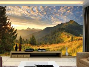 Осенний Восход альпийский пейзаж дикой природы цифровая печать HD декоративные красивые обои
