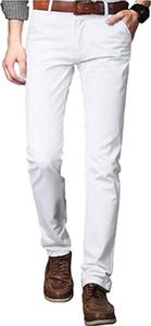 Mens Summer linen Casual Trousers, Casual Pants Slim Fit Smart Dress Pants Formal Business Suit Trousers