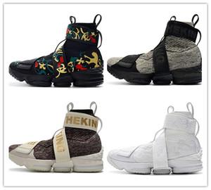 2019 KITH x 15 لايف ستايل تحيا الملك سحاب أحذية رياضية 15s مدينة الملائكة King's Crown Mens Athletic designer shoes