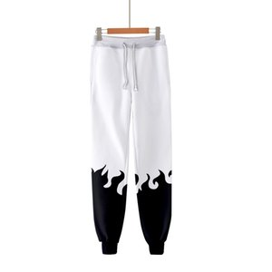 Mens Naruto Printed Colorful Pants Hip Hop Trousers Popular Kpop Fashion Casual High Quality Warm Male Pants