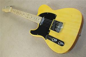 Free shipping wholesale High Quality F tele Ameican Art signature telecaster yellow 6 strings Electric guitar