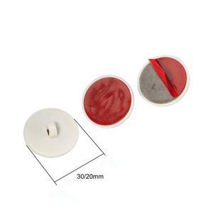Plástico branco Fixo Disc gancho adesivo Teto Gancho Buckle Acessório Titular para o cartaz Pole Hanger bandeira Clipe Rod exibição