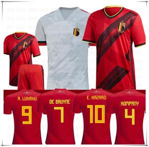 2020 Belçika camiseta de futebol 7 DE BRUYNE 9 Lukaku Erkekler çocuklar 10 E.HAZARD 14 MERTENS 21 CARRASCO Futbol Formalar