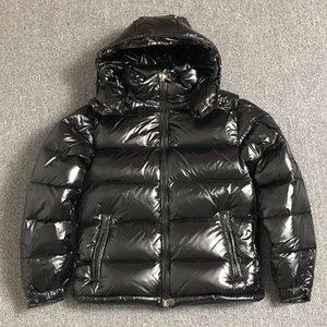 uomini 2019 offerta speciale limitata cerniera regolare inverno nero stile britannico piumino cappotto con cappuccio classica, tenere in caldo bianco anatra giù