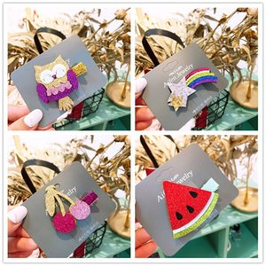 2018 New Cute Cartoon Fruit Tornante Girls Kids Clip di capelli Barrette Accessori per bambini Haircrip Hairgrip Headdress Headwear