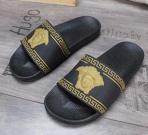 дизайнерские сандалии марки Men Beach Slide Sandals Scuffs Тапочки Мужские черный белый красный Gold Beach Fashion слипоны дизайнерские сандали ЛУЧШЕЕ КАЧЕСТВО