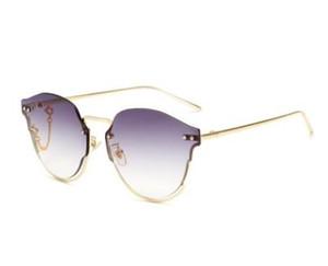 Новые модные очки с цепочкой личности, Красная звезда, солнцезащитные очки, корейская версия, модные очки, Солнцезащитные очки высшего качества