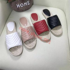 Xshfbcl Women progettista Leather Espadrille Sandal luxe Slipper Flat Platform Shoes With The Double Metal Beach Weave Shoes