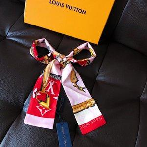 2019 und weist super weich hohe Qualität bowknot Krawatte hairsilk Doppelsatinband multifunktionales Mode Kopftuch ohne Box 014