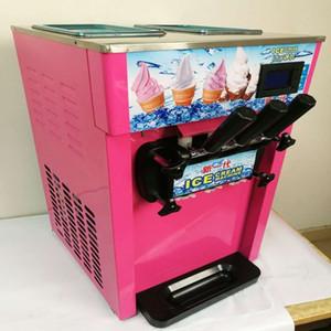 1200W sorbetière 3 Flavors machine à crème glacée molle 18L / H Jaune / Rose / Acier inoxydable yogourt crème glacée CE R22