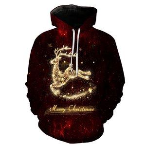 Vêtements d'automne et d'hiver pour hommes Impression de Noël à capuche à capuche Casual Hommes Designer Sweats à capuche Mode Sweat à capuche
