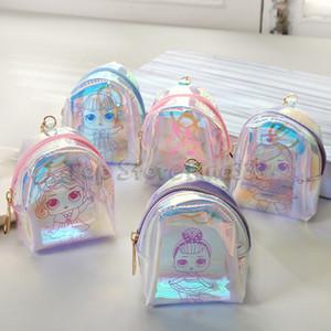 LOL Monedero Bolsa de Moneda Transparente Estudiante de Dibujos Animados Bolsa de Almacenamiento de Monedas Auriculares Bluetooth caja de almacenamiento de dulces Bolsa de Almacenamiento Bolso de los niños al por mayor