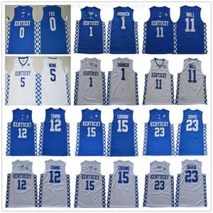NCAA Kolej Kentucky Wildcats Formalar Basketbol Devin Booker John Wall Anthony Davis Karl-Anthony Towns DeMarcus Cousins Malik Monk Fox