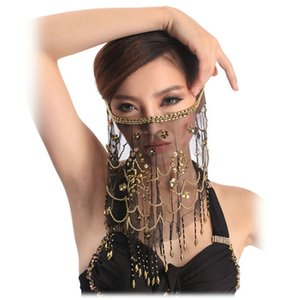 2016 High quality cheap women  belly dance face veil tribal belly dancing veils for sale 12 colors available