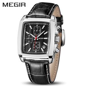 MEGIR officiel Quartz Montre Homme en cuir véritable Montres Horloge homme Montre chronographe Relogio Masculino Homme Homme étudiants 2028