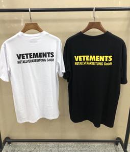 Europa Frankreich Hohe Qualität Vetements T-shirt Hip Hop metallic Design T Shirts Männer Frauen Kleidung Casual Baumwolle T Top