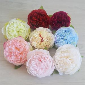 100pcs 10cm İpek Yapay Çiçekler Şakayık Çiçek Başkanı DIY Düğün Duvar Sahne Arkaplan Buket Sencery Festivali Craft Dekoratif Malzemeleri