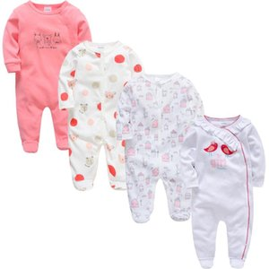 Kavkas Baby Girl Clothes 4 pcs lot Long Sleeve Summer Cotton roupa de bebes 0 3 6 9 12 Months Baby Pajamas