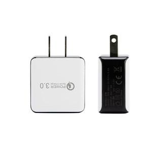 Универсальное автомобильное зарядное устройство QC3. 0 Us Plug 18W Quick Charge Fast Adapter Wall Mobile Phone Charger для Iphone Samsung LG Huawei