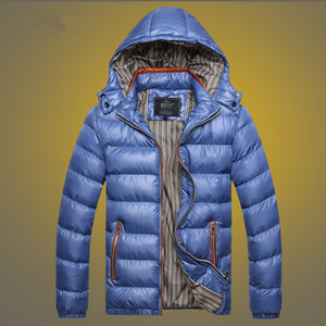 5 Renk Erkek Kış ceketler Kalınlaşmak ceketler Sıcak Coat Moda Casual Katı Renk Kapşonlu Sıcak Coat M-5XL